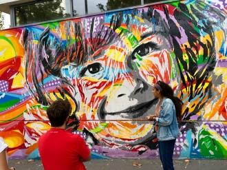 A mural by street artist Jo Di Bona.