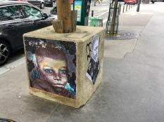A street-art piece located on rue Marie-Andrée-Lagroua-Weill-Hallé.