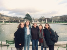 Enjoying the Jardin des Tuileries, next to the Louvre.