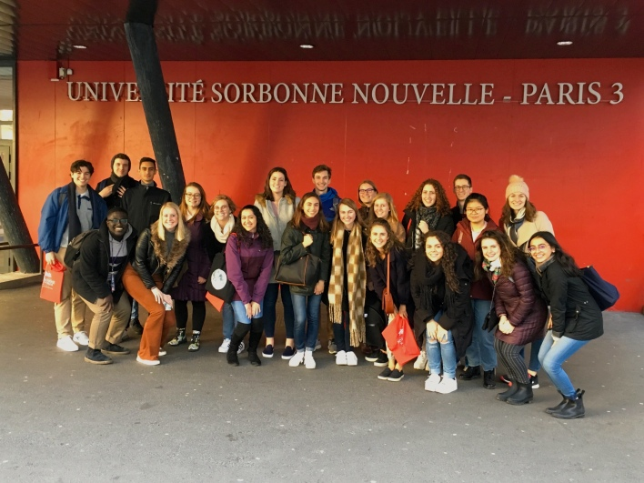 During orientation, students visit the universities where they will be taking classes, such as the Sorbonne-Nouvelle university.