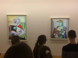 In the Musée Picasso, located in the Marais, students were able to follow the evolution of Picasso's paintings throughout his life.