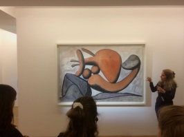 The tour guide helped us understanding the composition of some of his paintings, such as this one.
