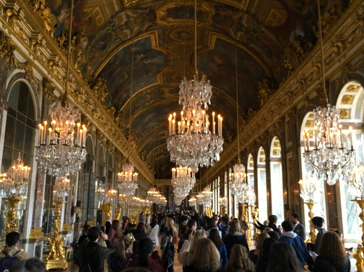 The famous Hall of Mirrors