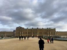 Outside the Château de Versailles