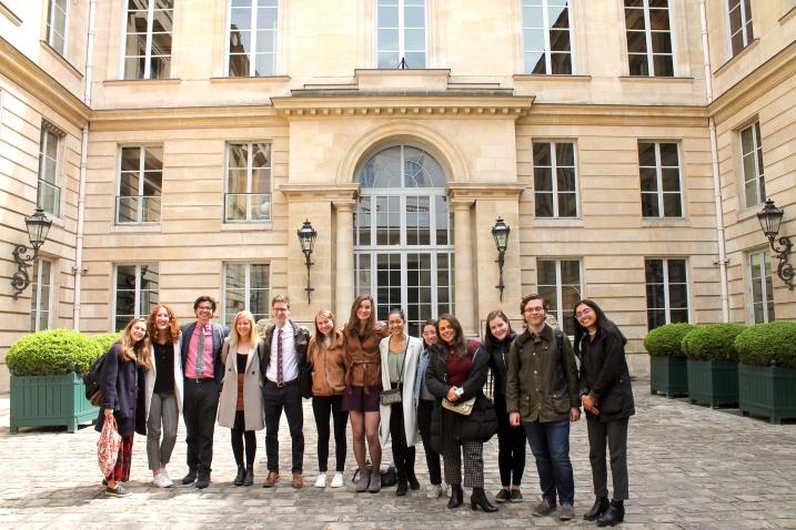 Outside the Hôtel de Talleyrand