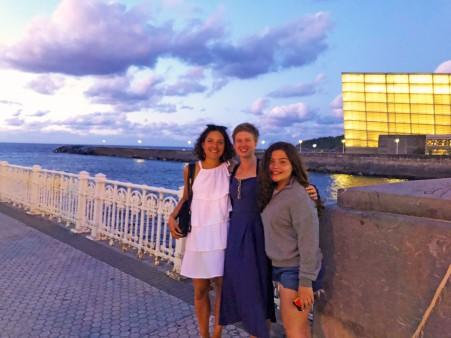 By the sea, in San Sebastian